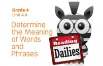 Unit 4.4: Determine the Meaning of Words and Phrases