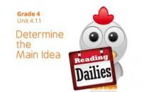Unit 4.11: Determine the Main Idea