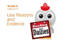 Unit 4.17: Use Reasons and Evidence