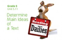 Unit 5.11: Determine Main Ideas of a Text