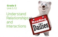 Unit 5.12:  Understand Relationships and Interactions