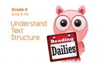 Unit 4.14: Understand Text Structure