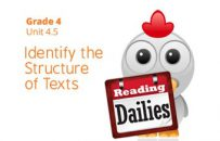 Unit 4.5: Identify the Structure of Texts