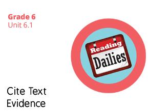 Unit 6.1 Cite Text Evidence