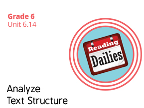 Unit 6.14 Analyze Text Structure