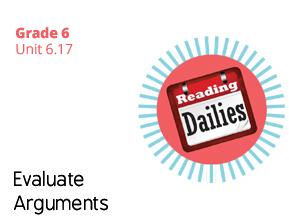 Unit 6.17 Evaluate Arguments