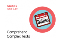Unit 6.19 Comprehend Complex Texts