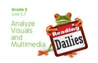 Unit 5.7: Analyze Visuals and Multimedia