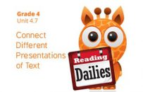 Unit 4.7: Connect Different Presentations of Text